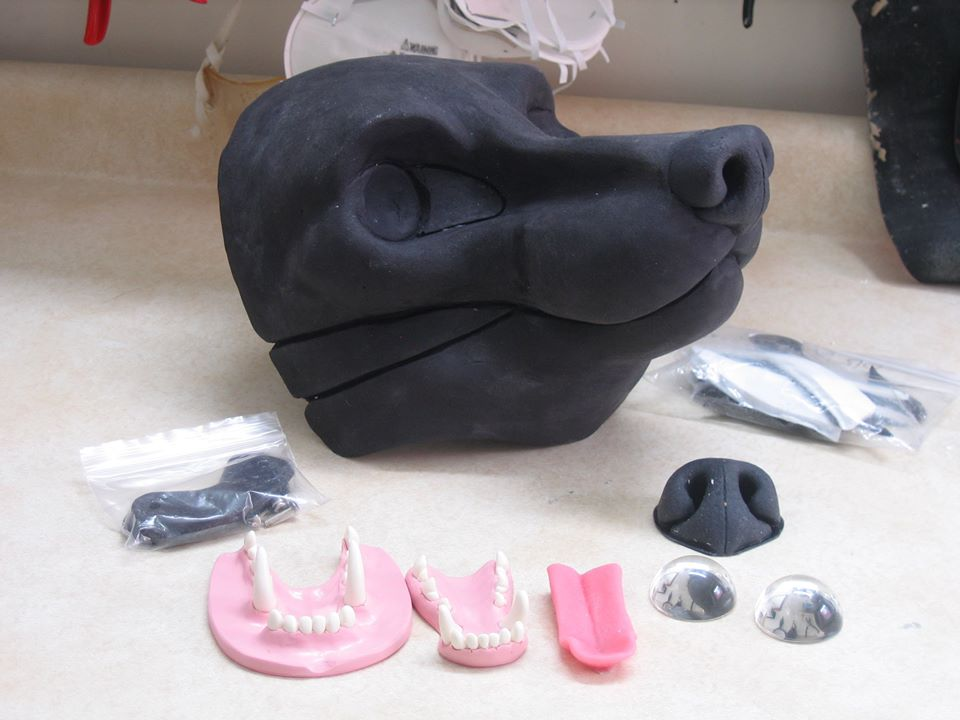 dreamvision creations resin wolf mask parts