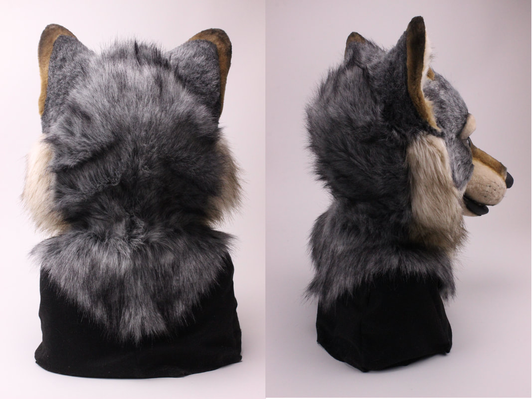 fursuit wolf head by Sans Souci Studios