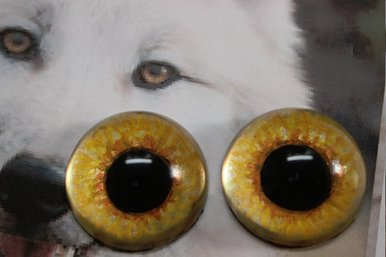 handpainted resin wolf eyes with reference picture