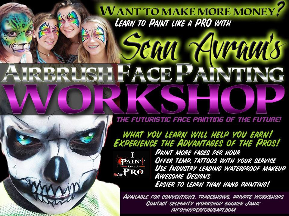 sean avram airbrush awesome shop flyer